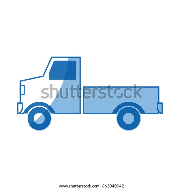 Pickup Truck Delivery Icon Sign Modern Stock Vector Royalty