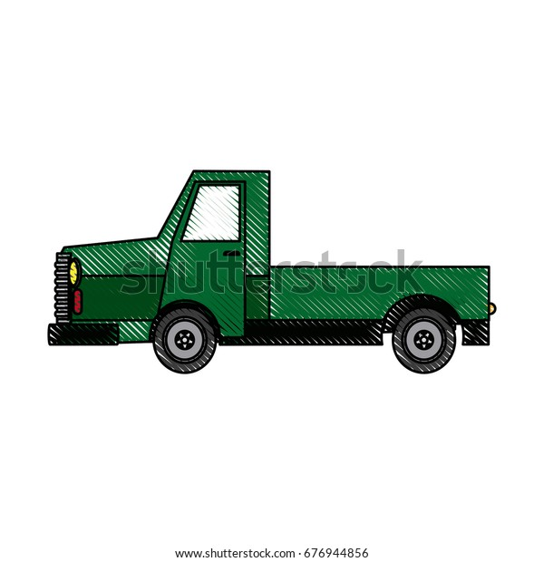Pickup Truck Off Road 4x4 Auto Stock Vector Royalty Free