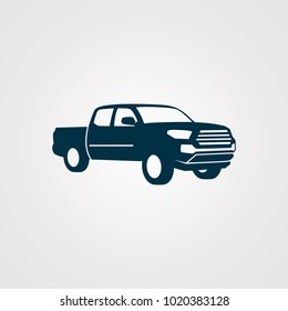 Pickup truck vector illustration. silhouette
