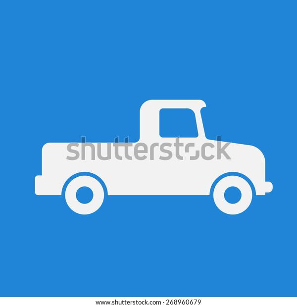 Pickuptruckdelivery Iconsign Modern Simple Designflat Style