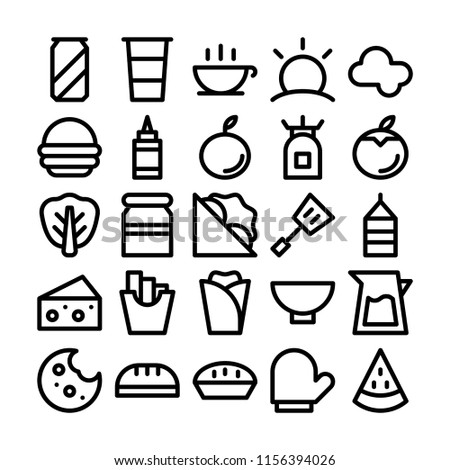 Picnic Barbeque Any Purposes Perfect Website Stock Vector Royalty