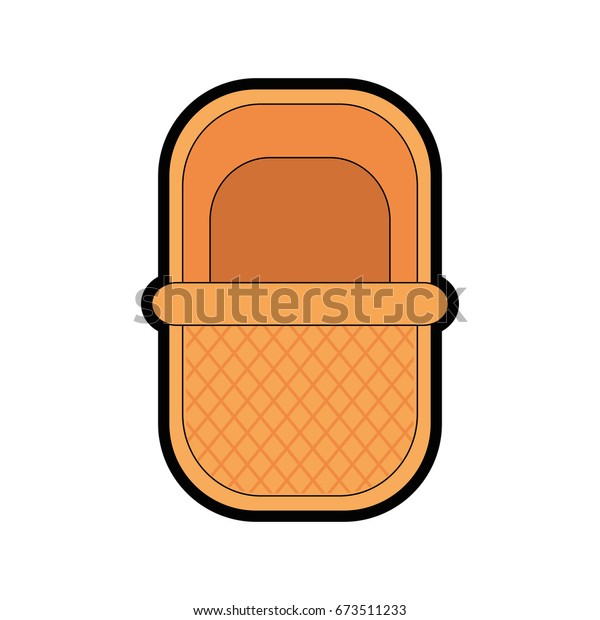 Picnic Basket Cartoon Stock Vector Royalty Free 673511233