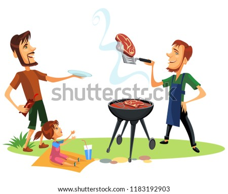 picnic summer barbeque party poster stock vector royalty free