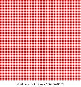 Picnic table cloth. Seamless checkered vector pattern. Vintage color plaid fabric texture. Abstract geometric vichy background.