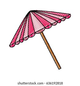 Picnic umbrella isolated