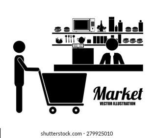 Pictogram design over white background, vector illustration
