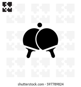 Pictogram ping pong icon..