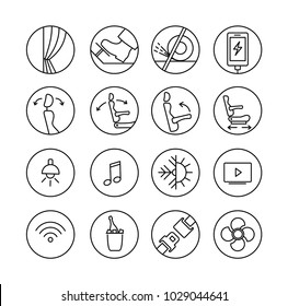 Pictogram for touristic bus. Icon set about properties of transfer