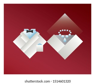 pictograms of groom and bride