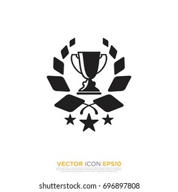 Pictograph of award for template logo, icon, and identity vector designs