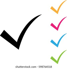 Pictograph of check mark