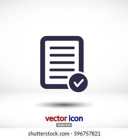 Pictograph of checklist .VECTOR ICON 10 eps