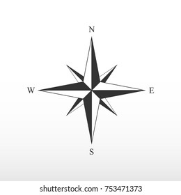 Pictograph of compass. side of the world.
