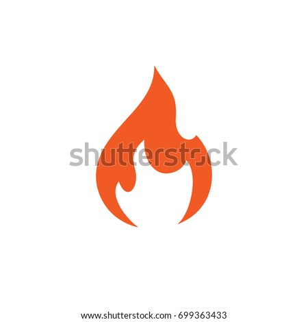 Flame Template   Pictograph Flame Template Logo Identity Stock Stock Vector Royalty