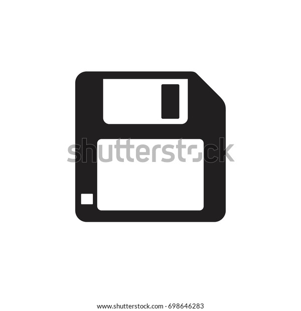 Pictograph Floppy Disk Computer Template Logo Stock Vector