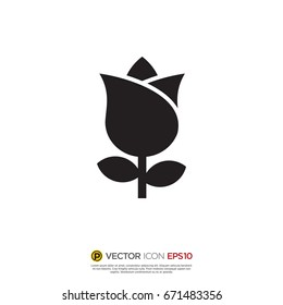 Pictograph of flower for icon, logo and identity designs