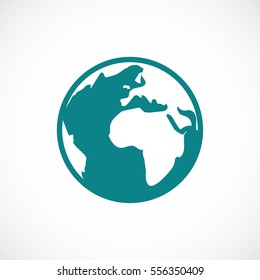 Pictograph of globe icon, vector best flat icon, EPS