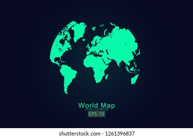 pictograph globe world map vector earth stock vector royalty free