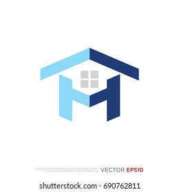 Pictograph of house from letter h for icon, logo and identity designs