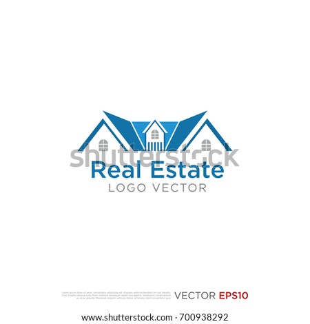 Pictograph House Template Logo Icon Identity Stock Vector