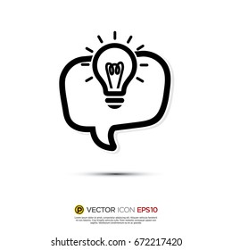 Pictograph of Message and chat about idea, innovation for icon, logo and identity designs