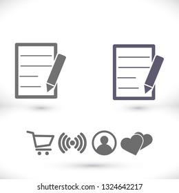 Pictograph of note icon. Vector  Eps 10