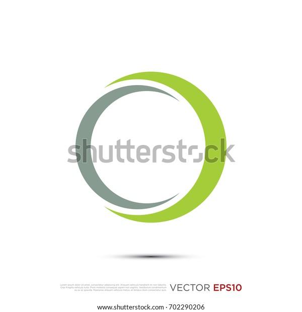Pictograph Orbit Ring Swoosh Template Logo Stock Vector