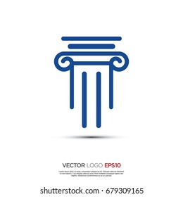 Pictograph of pillar for icon, logo and identity designs