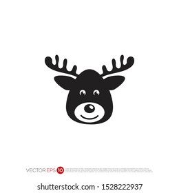 Pictograph of reindeer for template logo, icon, and identity vector designs.
