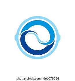Pictograph of splash water in washing machine for laundry template logo, icon, and identity vector designs.