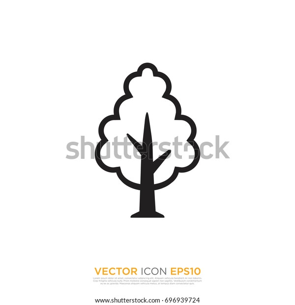 Pictograph Tree Template Logo Icon Identity Stock Vector