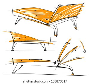 Picture of the chair. Sketch style
