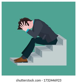 Picture depicting mental health due to work under pressure