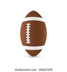 picture of football ball on white background, vector eps 10 illustration