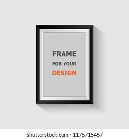 Picture frame isolated on white background, stock vector