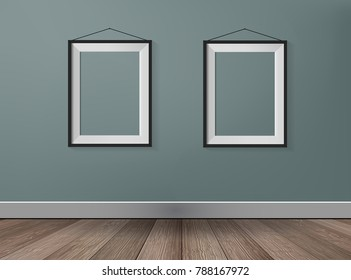 picture frame on  gray wall