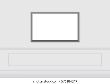 Picture frame on wall. vector