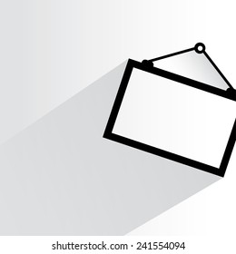 picture frame on white background, flat and shadow theme