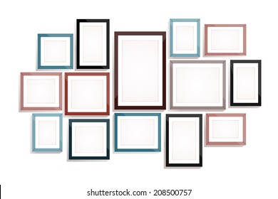Picture frame vector. Photo art gallery
