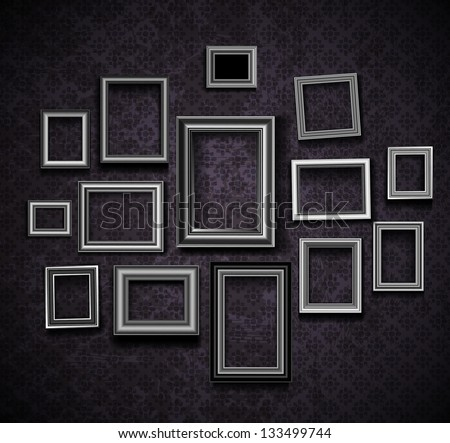 Picture Frame Vector Vintage Photo Frames Stock Vector Royalty Free