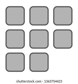 Picture gallery - Add photo icon. illustration of photo album icon