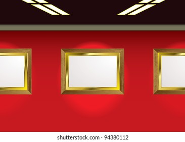 Picture gallery ready for your own images and red background