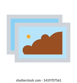 picture icon. flat illustration of picture vector icon for web