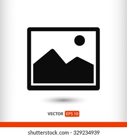picture icon. One of set web icons