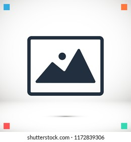 Picture icon vector , stock vector illustration flat design style