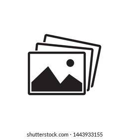 picture landscape icon symbol vector. on white background. eps10