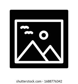 picture vector glyph flat icon