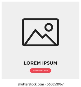 Picture vector icon, image symbol. Modern, simple flat vector illustration for web site or mobile app