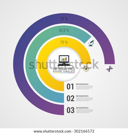 Pie Chart Circle Graph Modern Infographics Stock Vector Royalty