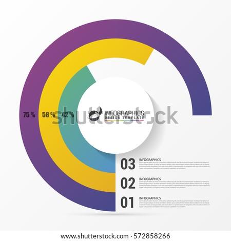 pie chart circle graph modern infographics のベクター画像素材